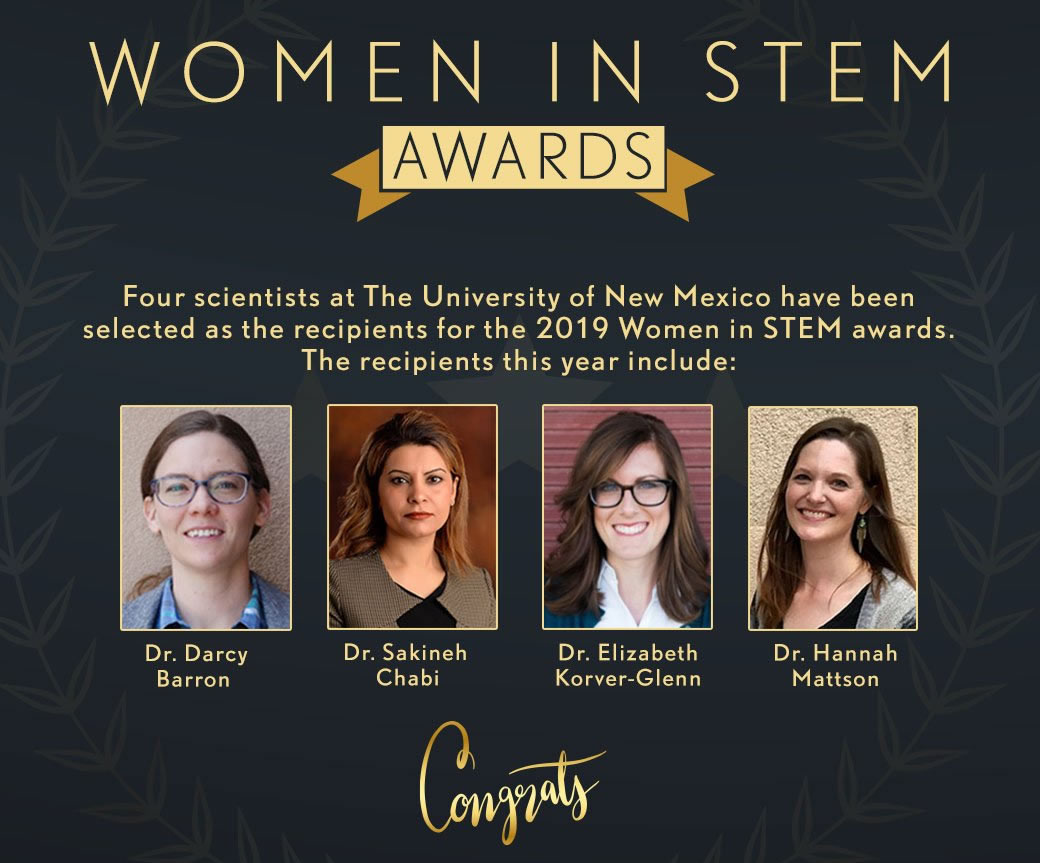 2019 Women in STEM Seed Grant Recipients