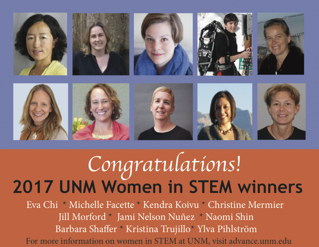 2017 Women in STEM Seed Grant Recipients