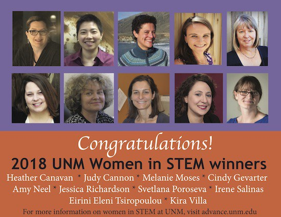 2018 Women in STEM Seed Grant Recipients
